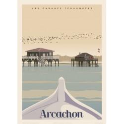 ARCACHON , Les Cabanes Tchanquées , HIVER