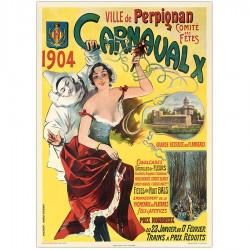 VILLE DE PERPIGNAN, 10ème CARNAVAL , 1904