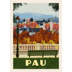 PAU , Boulevard des Pyrénées
