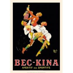 BEC KINA  , l'apéritif des sportifs , l'abus d'alcool est dangereux pour la santé , mais non l'abus d'affiches