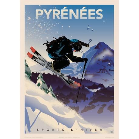 PYRENEES - Sports d'hiver  ( SKI )