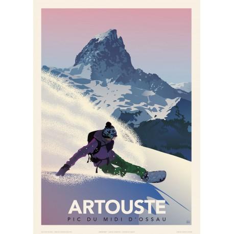 ARTOUSTE - Pic du Midi d'Ossau - Snowboard