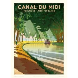 Affiche Le canal du Midi