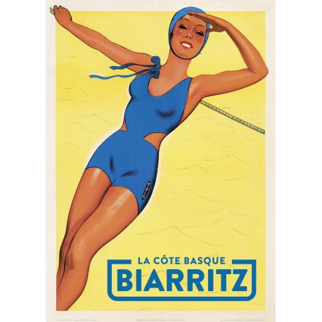 La Côte basque - Biarritz , Pin-up