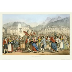 Danse Ossaloise , Laruns 1840 , Pyrénées