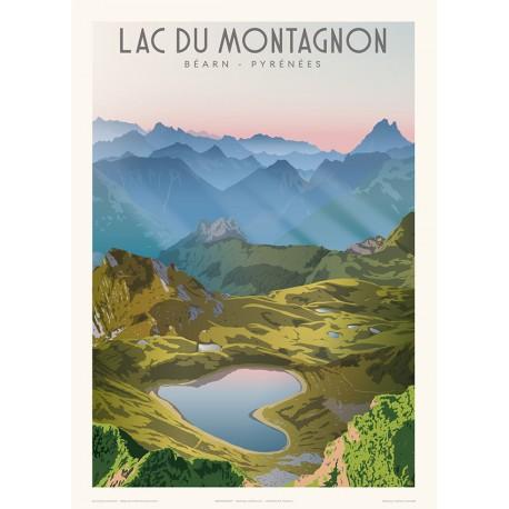 Le lac du Montagnon, Béarn-Pyrénées