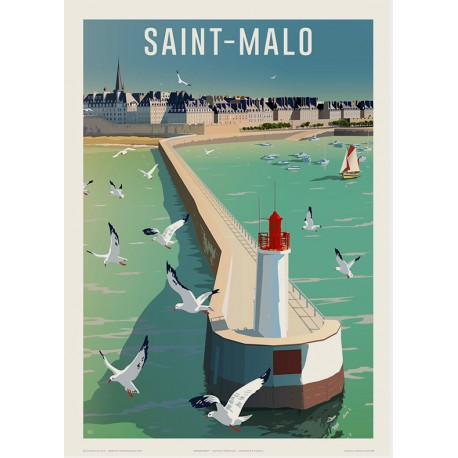 Saint-Malo , le Môle des Noires