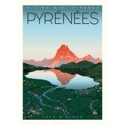 PYRENEES , Le PIC du MIDI D'OSSAU - les lacs d'Ayous