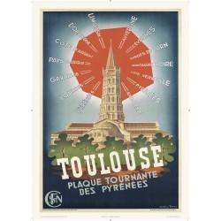 Affiche Toulouse plaque tournante des Pyrénées