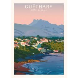 Affiche Guéthary , Côte basque