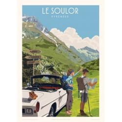 Affiche Le Soulor, Pyrénées