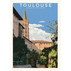 Affiche Toulouse, Basilique Saint-Sernin
