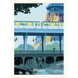 Affiche Paris, Pont Bir-Hakeim